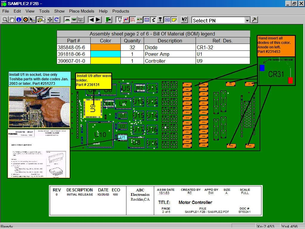 PC Board Pick & Place assembly machine software for electronics ...