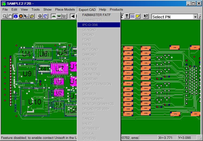 Unisoft - CAD conversion & Gerber translation software for Netlist