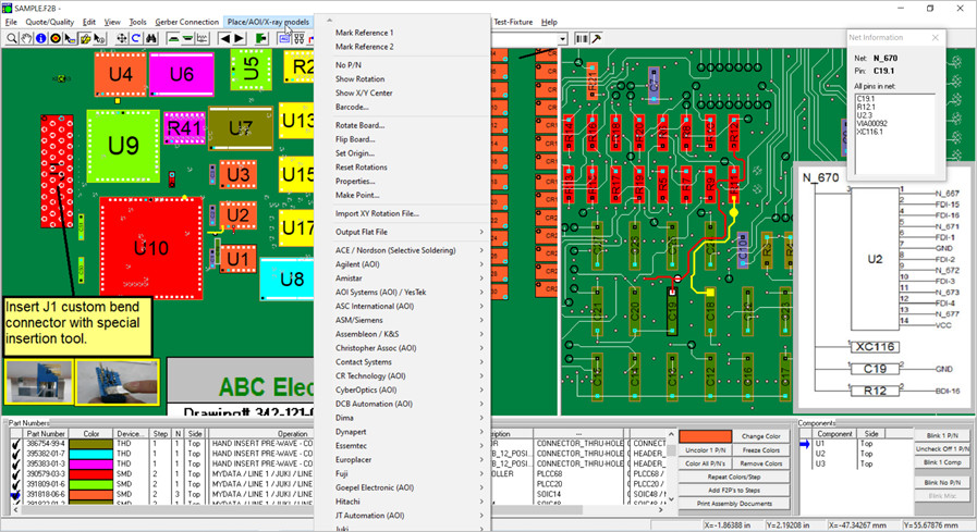 Unisoft Gerber To Pcb Assembly And Aoi Machines Gerber To Netlist Conversion Pcb Assembly Pcba