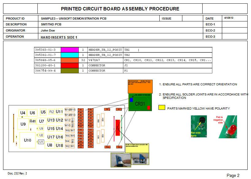 pcb assembly process documents