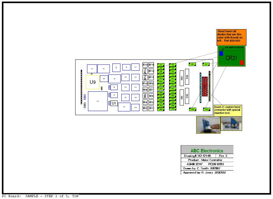 pcb assembly instructions documents process steps method sheets